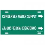 Brady 4041-F, Plastic Condenser Water Supply Pipe Marker