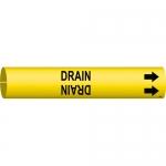 Brady 4054-C, 3.875″ Dia. Coiled Plastic Drain Pipe Marker
