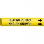 Brady 4070-C, 41668 Coiled Heating Return Pipe Marker
