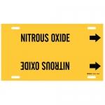 Brady 4101-H, 15″ Dia. Plastic Nitrous Oxide Pipe Marker