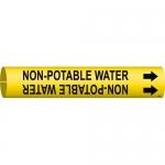 Brady 4102-C, 41807 Plastic Non-Potable Water Pipe Marker