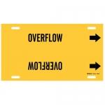 Brady 4104-G, 9.875″ Dia. Plastic Overflow Pipe Marker