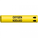 Brady 4105-C, Coiled Plastic Oxygen Pipe Marker