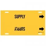 Brady 4138-G, Thru 9.875″ Dia. Plastic Supply Pipe Marker