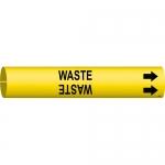 Brady 4151-C, 3.875″ Dia. Coiled Plastic Waste Pipe Marker