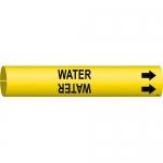 Brady 4154-C, 3.875″ Dia. Coiled Plastic Water Pipe Marker