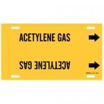 Brady 4158-H, 15″ Dia. Plastic Acetylene Gas Pipe Marker