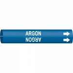 Brady 4162-C, 50763 Plastic Argon Pipe Marker on Blue