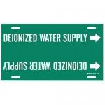 Brady 4173-F, Plastic Deionozed Water Supply Pipe Marker