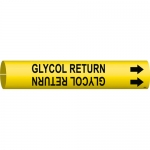 Brady 4189-C, 94947 Plastic Glycol Return Pipe Marker