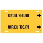 Brady 4189-H, 15″ Dia. Plastic Glycol Return Pipe Marker