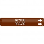 Brady 4200-C, 2.5″ – 3.875″ Dia. Plastic Snap-On Pipe Marker: Glycol