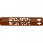 Brady 4201-C, Plastic Snap-On Pipe Marker: Glycol Return