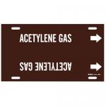 Brady 4288-H, Plastic Snap-On Pipe Marker: Acetylene Gas