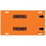 Brady 4290-H, 10″ – 15″ Dia. Plastic Snap-On Pipe Marker: Ammonia