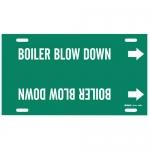 Brady 4298-H, 10″ – 15″ Dia. Plastic Boiler Blow Down Pipe Marker