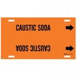 Brady 4308-H, 10″ – 15″ Dia. Plastic Snap-On Pipe Marker: Caustic Soda