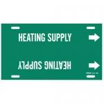 Brady 4326-F, Snap-On Pipe Marker: Heating Supply