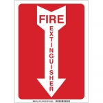 Brady 43295, 10″ x 7″ Aluminum Fire Extinguisher Sign