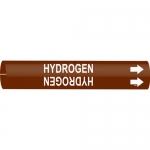 Brady 4340-C, 2.5″ – 3.875″ Dia. Plastic Snap-On Pipe Marker: Hydrogen