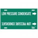 Brady 4343-F, Pipe Marker: Low Pressure Condensate