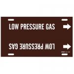 Brady 4345-F, Snap-On Pipe Marker: Low Pressure Gas