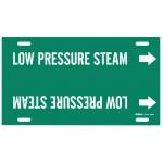 Brady 4347-F, Snap-On Pipe Marker: Low Pressure Steam