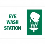 Brady 25904, 10″ x 14″ Polystyrene Eye Wash Station Sign
