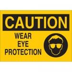 Brady 25909, 10″ x 14″ Polystyrene Caution Wear Eye Protection Sign