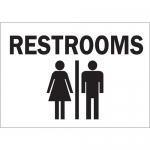 Brady 25918, 10″ x 14″ Polystyrene Restrooms Sign