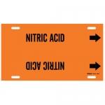 Brady 4350-F, Plastic Snap-On Pipe Marker: Nitric Acid