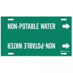 Brady 4351-H, 10″ – 15″ Dia. Plastic Non-Potable Water Pipe Marker