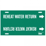 Brady 4359-F, Snap-On Pipe Marker: Reheat Water Return