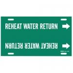 Brady 4359-H, Snap-On Pipe Marker: Reheat Water Return