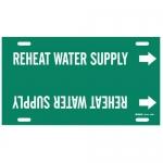 Brady 4360-F, Snap-On Pipe Marker: Reheat Water Supply