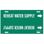 Brady 4360-H, Snap-On Pipe Marker: Reheat Water Supply
