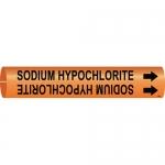Brady 4362-C, Snap-On Pipe Marker: Sodium Hypochlorite