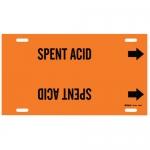 Brady 4364-F, 6″ – 7.875″ Dia. Plastic Snap-On Pipe Marker: Spent Acid