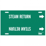 Brady 4365-F, Plastic Snap-On Pipe Marker: Steam Return
