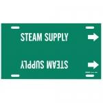 Brady 4366-F, Plastic Snap-On Pipe Marker: Steam Supply