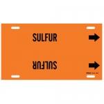 Brady 4367-F, 6″ – 7.875″ Dia. Plastic Snap-On Pipe Marker: Sulfur