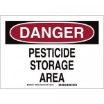 Brady 46440, 7″ x 10″ Aluminum Danger Pesticide Storage Area Sign