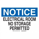 Brady 46573, Electrical Room No Storage Permitted Sign