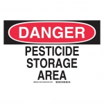 Brady 46723, Danger Pesticide Storage Area Sign
