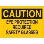 Brady 22585, Eye Protection Required Safety Glasses Sign