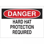 Brady 25217, Danger Hard Hat Protection Required Sign