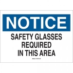 Brady 22629, Safety Glasses Required In This Area Sign