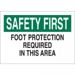 Brady 25241, Safety First Food Protection Required… Sign