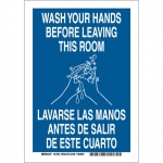 Brady 47658, Wash Your Hands Before Leaving This Room Sign