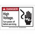 Brady 49837, 3.5″ x 5″ Polyester Alert Sign